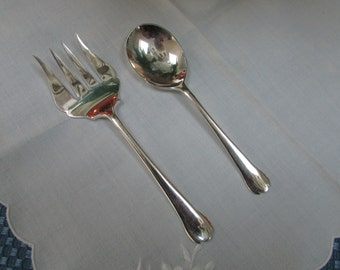 VINTAGE - From England - Matching Silverplate Scone Fork and Sugar Spoon