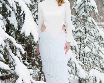 Sequined Wedding Gown // Low Back Bridal Gown // Art deco Dress // Sheath // Wedding Dress with Cutouts