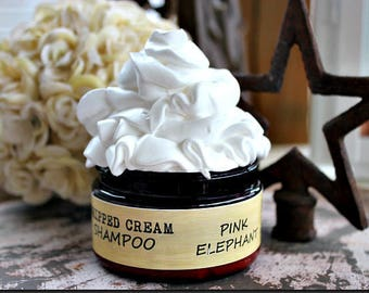 Whipped Cream SHAMPOO - CHOCOLATE + AMBER - with Bamboo Extract- Vegan 4 Ounce