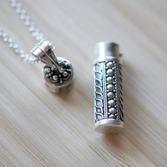 Stash necklace sterling silver snuff pendant ashes like this item aloadofball Gallery