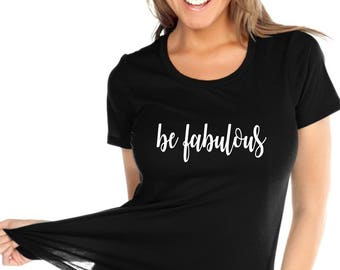 Glitter Be Fabulous Custom Glam  Bedazzled Shirt