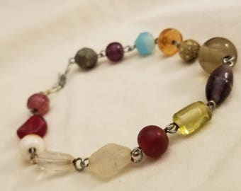 Multicolor Earth Tone Beaded Bracelet Earthtone