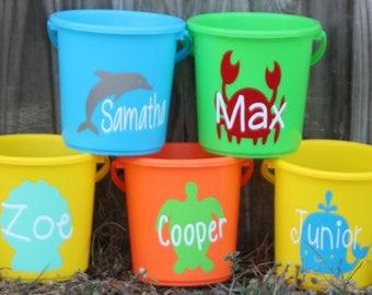 Personalized Beach Buckets/ Personalized Sand Buckets/ Personalized Summer Buckets/ Kid Buckets/ Personalized Buckets/Sand/ Beach/ Kids