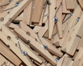Natural Unfinished Small Clothes Pins 1-3/4""