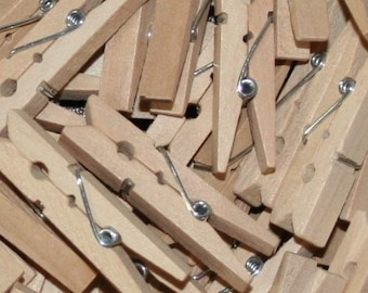 Bulk 144 Natural Unfinished Small Clothes Pins 1-3/4""