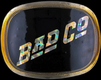 Rare Vintage 1970s 1976 Bad Company Music Band Hologram Rock Roll Music Band Promo Tour Pacifica Belt Buckle