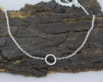 Necklace Karma Collier Ring silver PLATED
