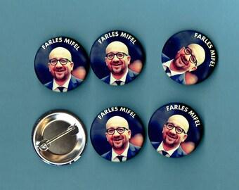 FARTLES MIFEL - 6 badges 3, 2 * 3, 2cm