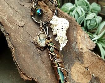 the Saviour - Mixed Media Art Jewelry