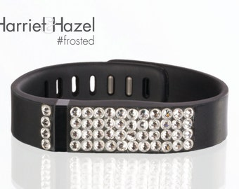 TWO replacement bands for Fitbit FLEX w Swarovski crystal details - Sale - Fitbit Bling - Fitness Bling - Swarovski Fitbit - Fitness Tracker