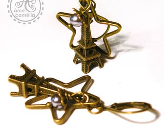 Paris Eiffel Tower earrings, Star