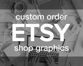 Custom ETSY Cover & Shop Icon Set | Personalized Professional Storefront Photo Text Banner Header Design Avatar | Shop Business Branding