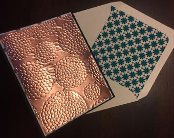 Greeting Cards--Copper Embossed Cards