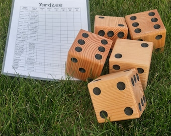 Yardzee - Yard Dice - Yard Game - Tailgate - Dice - Lawn Game - Reception Game - Outdoor Games  - Gifts - Wedding Game