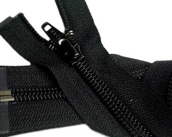 SALE Nylon Coil Jacket Zipper (Special Length) YKK #5 Separating - Black