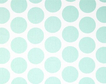 Mint Green Polka Dots Curtain Panels. All Sizes 63, 84, 96, 108, 120 Lengths. Nursery Decor. Dots. Window Treatments.