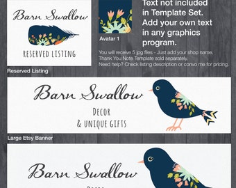 Etsy Banner and Store Branding Doodle DIY Template - #1873