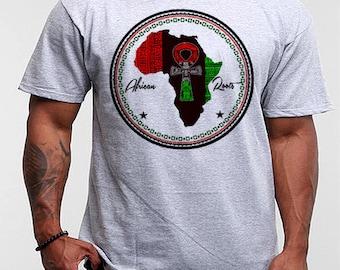 Black History Month T-Shirt African Map Kemetic Malcolm X Black Panther Flag Africa Hieroglyphics Melanin Kemet Panafricanism Cotton Tee