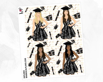 Diploma Fashion Full Boxes | Matte Glossy Planner Stickers