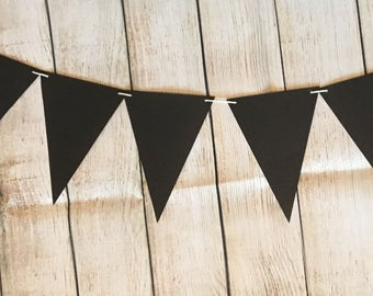 Black Banner, Black Bunting, Black Flags, Party Decor