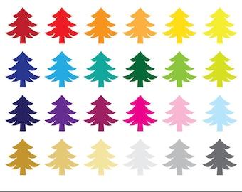 Christmas Tree   Xmas Clipart   Instant Download   Digital Clip Art