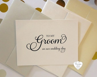 To My Bride To My Groom on our wedding day Wedding Card Greeting Card Groom to Bride Card Bride to Groom Card Gift for Groom Gift for Bride