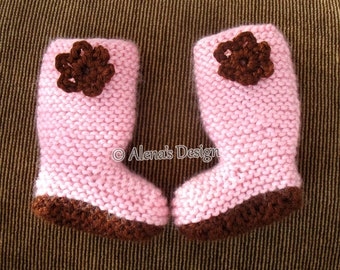 18 inch Doll Boots Free Knitting Pattern Crochet Flower Pink Boots American Doll Outfit My Life Knitting Boot Pattern Christmas Gift Girl