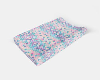 Changing Pad Cover Rainbow Watercolor. Change Pad. Changing Pad. Baby Bedding. Rainbow Changing Pad Cover. Mermaid Changing Pad