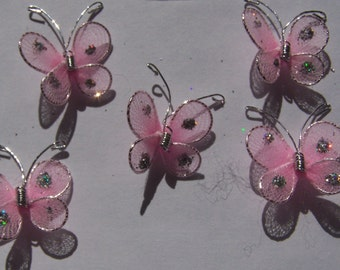 72 pc Handmade Butterflies - Choose your color