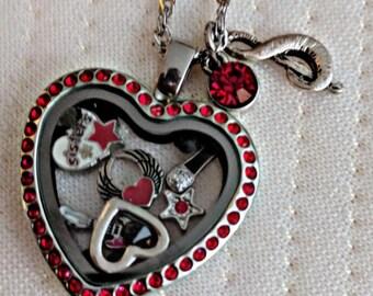 Heart Ann and Nancy Wilson inspired Living Locket
