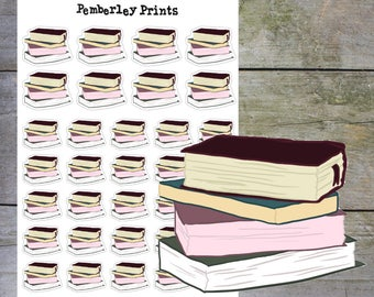 Books // Hand Drawn Reading Books Planner Stickers Perfect for Marking Book Club or Me Time // HD11