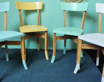 Pastel revamped vintage Bistro chairs