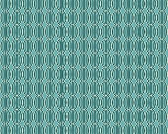 Riley Blake Botanique Botanical Circles Teal fabric