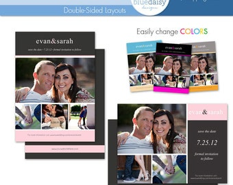 5x7 Save the Date (Simplistic)  - Photographer Templates