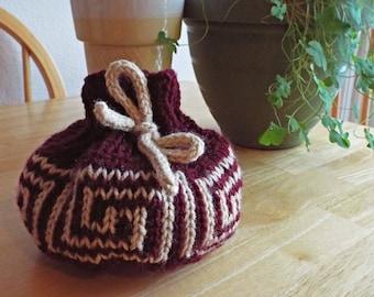 Knit Drawstring Bag