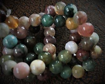 Strand of 6mm Round Fancy Jasper Beads