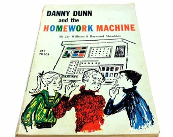 1st edition 1966 Danny Dunn and the Homework Machine soft cover book 1966 4th printing of 1st edition