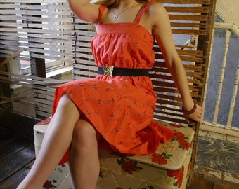 Pretty 70s cotton dress, size 10.