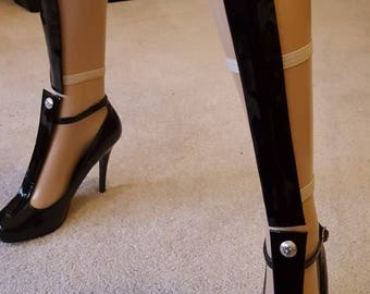 Black Patent Leather Legwear