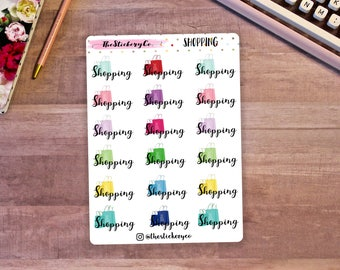 Functional Shopping Stickers, Functional Planner Stickers, Shopping Bag Stickers