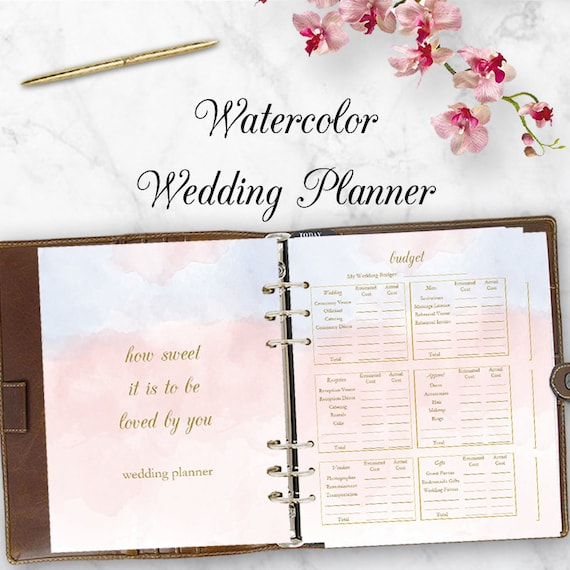 Wedding Planner Downloadable Wedding Planner Book PDF