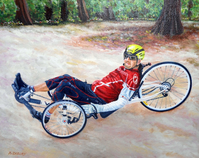 Camera to Oil Painting, Vacation Memories Painted by artist Robin Zebley