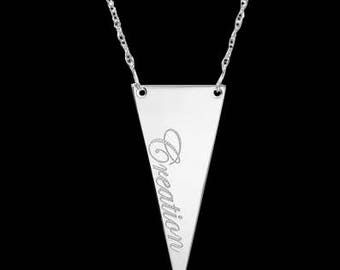 Engraved Necklace - Personalized Name Necklace - Custom Name Necklace - Silver Name Necklace - Personalized Jewelry - Personalized Gift