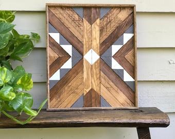 SALE - Reclaimed Wood Wall Art - Wood Wall Art-  Reclaimed  Wood - Wood Wall Decor- Wood Art- Geometric Wood Wall Art - Wooden Wall Art