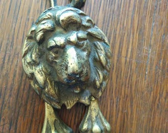 Vintage Brass Lion door Knocker, legs and Tail