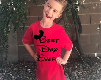 Best day ever Disneyland and Disney World t shirt for kids boys and girls matching shirts for the whole family available i