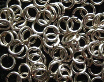 Jump Rings 200 -- 16 ga 5.5mm Handmade Non Tarnish Silver Chainmaille