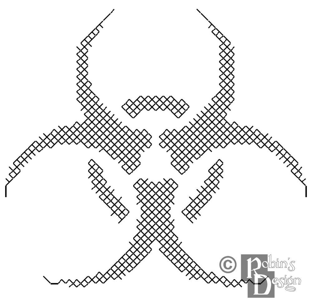 Symbol cross stitch pattern for shirt patch pdf biohazard symbol cross stitch pattern for shirt patch pdf biocorpaavc Images