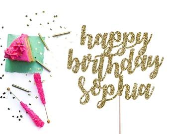 Happy Birthday Topper, Personalized Happy Birthday Cake Topper, Custom Happy Birthday Cake Topper, Birthday Cake Topper, Custom Topper