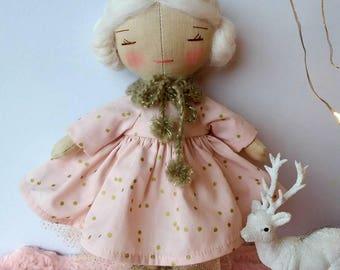 White linen doll.